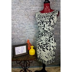 Diane von Furstenberg  Leopard Jersey Dress Sz 2